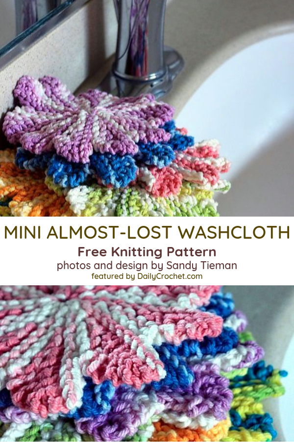 Small Almost Lost Crochet Washcloth Free Pattern